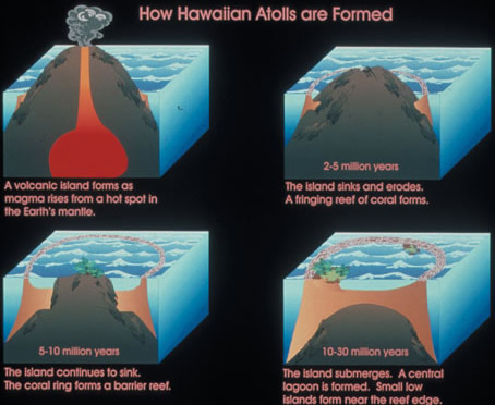 Atoll formation - Credit: U.S. Fish and Wildlife Service